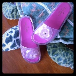 🎀NEW! Kate Spade pink sparkle jelly sandals🎀